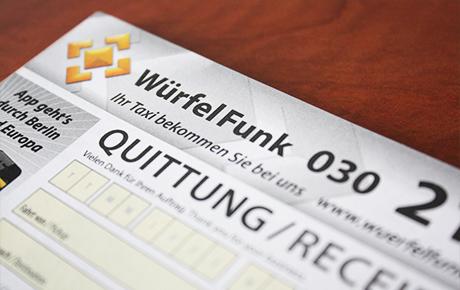 WürfelFunk-Quittung