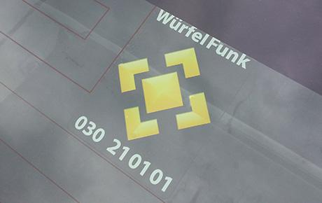 WürfelFunk-Symbolaufkleber
