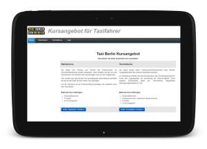 Online Anmeldung für Taxikurse beim WürfelFunk
